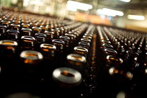 Tight Photo of Empty Beer Bottles
