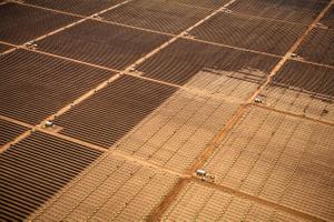 Aerial View of Solar Farm Installation