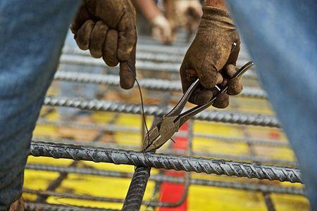 Man Installing Rebar