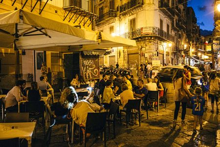 Outside Dining in Palermo