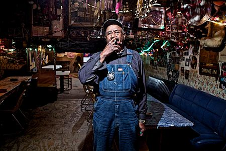 William Seaberry AKA Po Monkey Smoking a Cigar