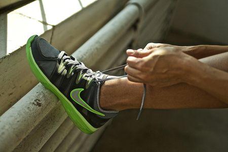Nike Shoe Being Tied