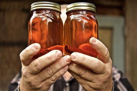 Double Jars of Moonshine