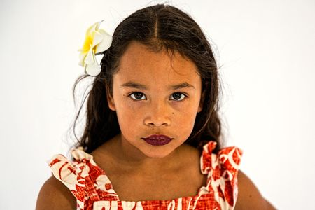 Portrait of a Girl From Polynesia
