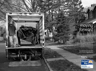 United Way Print Ad Moving On