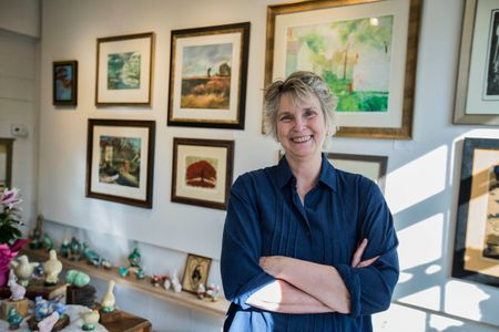 Female Artist In a Gallery