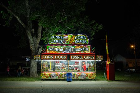 Photo of a Empty Corn Dog Stand at the End of the Night