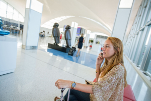 Passenger at STL St. Louis Lambert International Airport FLYSTL