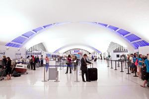 Interior of Terminal 1 at St. Louis Lambert International Airport FLYSTL