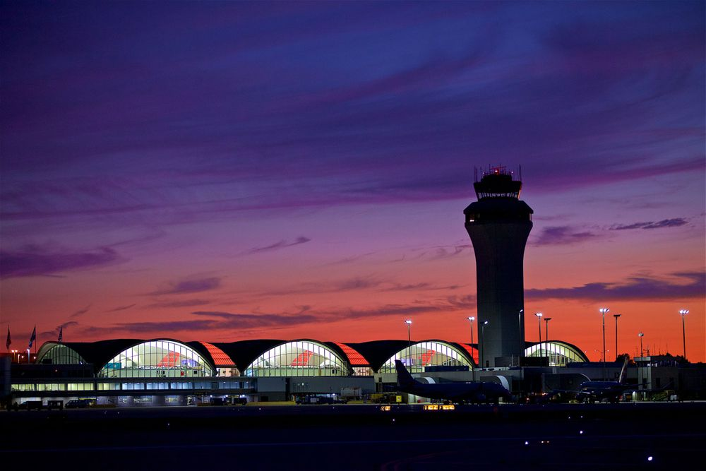 Sunset of STL St. Louis Lambert International Airport FLYSTL