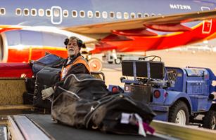 Baggage Handler Loading Bags