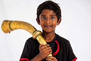 Portrait of a boy from India