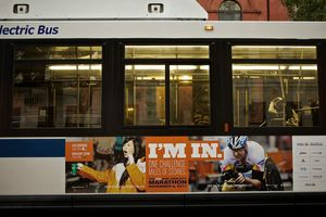 NYC Marathon Bus Ad