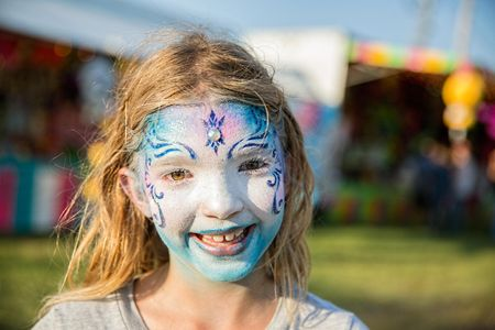 Girl With Beautiful Face Paint