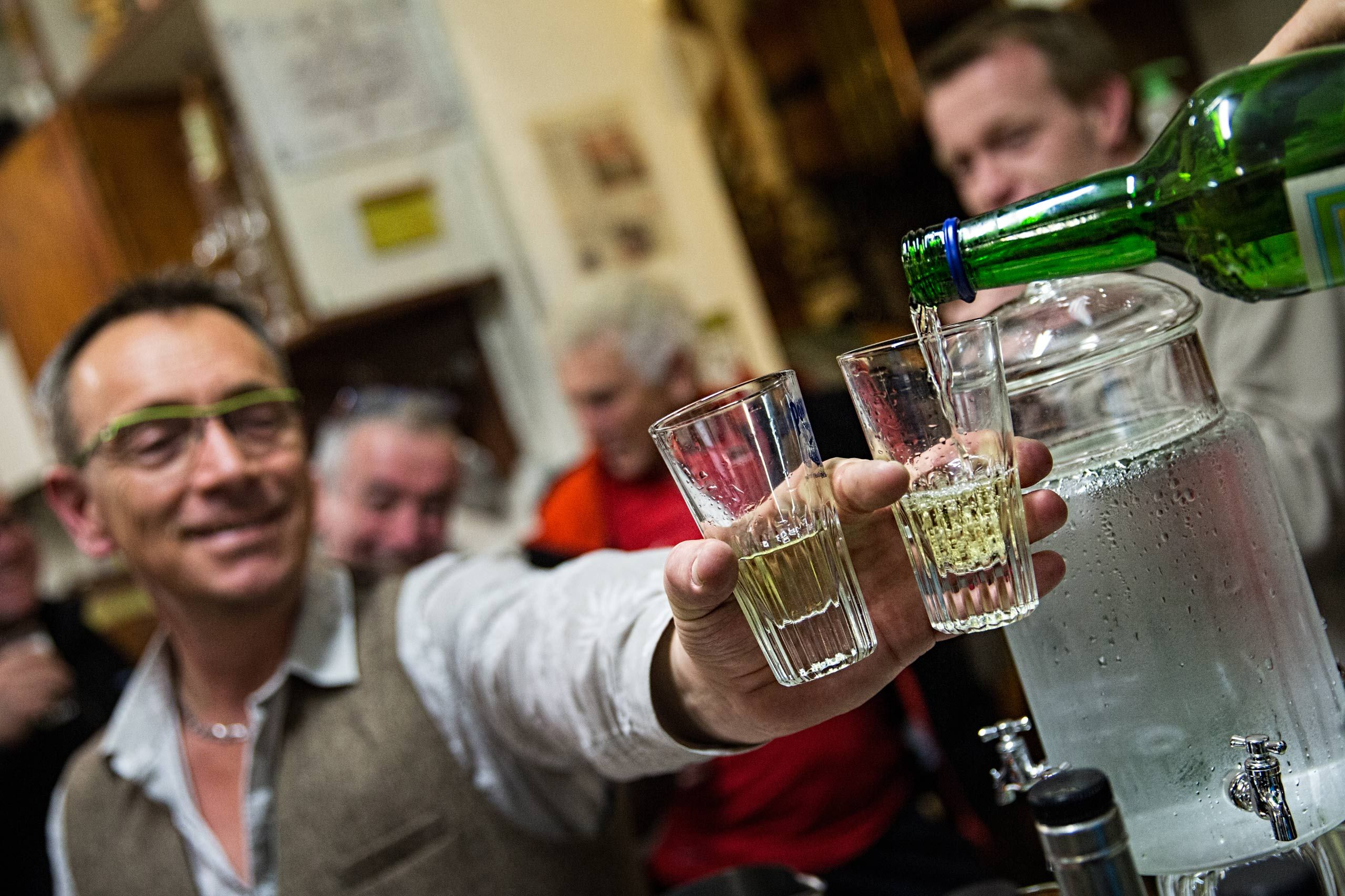 Man Being Served Absinthe X2