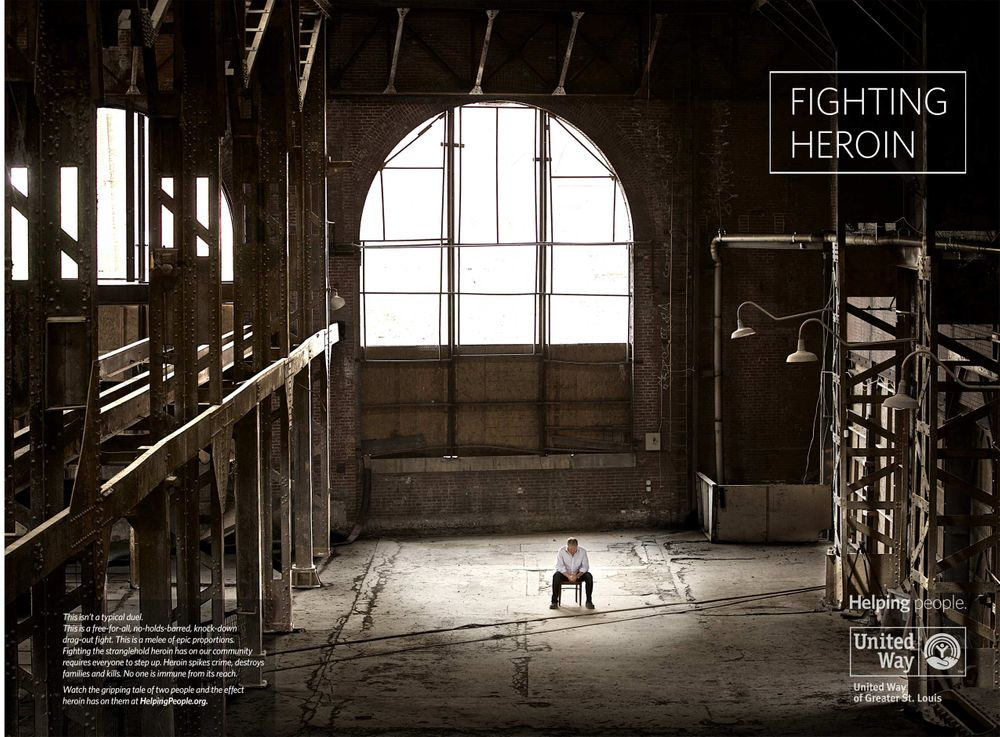 United Way Print Ad, Heroin