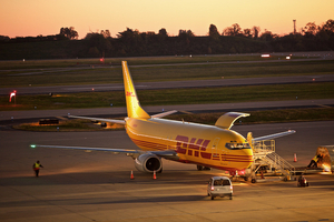 DHL Plane being Loaded With Cargo