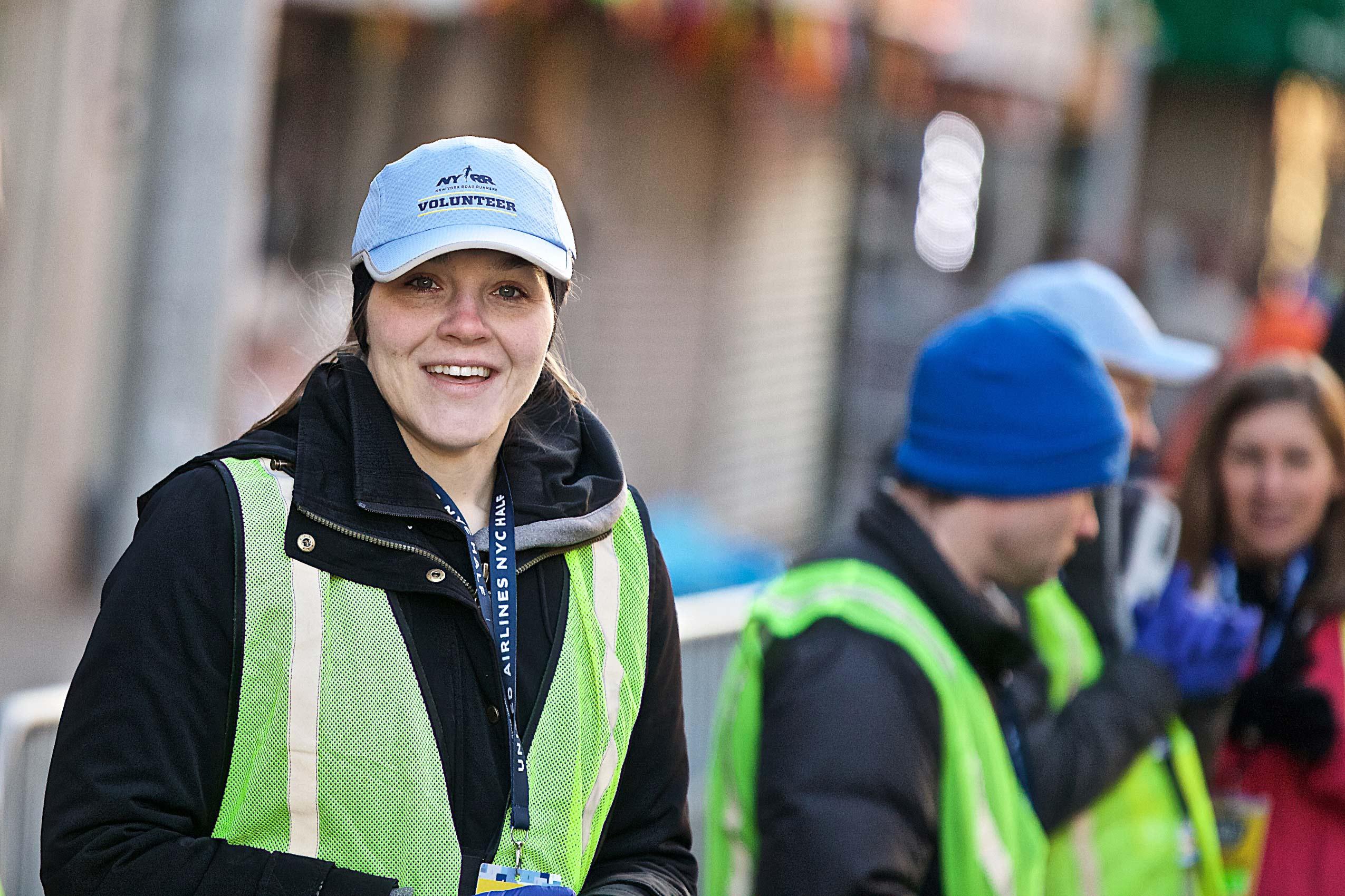 Volunteers at the NYC Half Marathon.