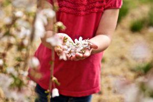 Girl Hold Flowers