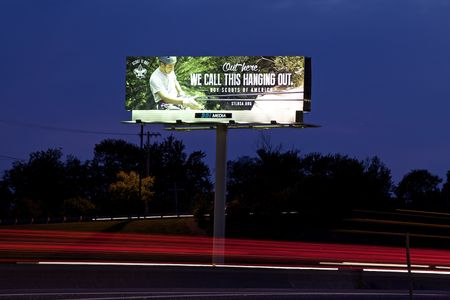 Boy Scouts outdoor Advertisement, billboard