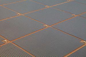 Solar Farm Aerial View