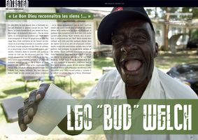 "Bluesman Leo ""Bud"" Welch Magazine Double Page Spread"