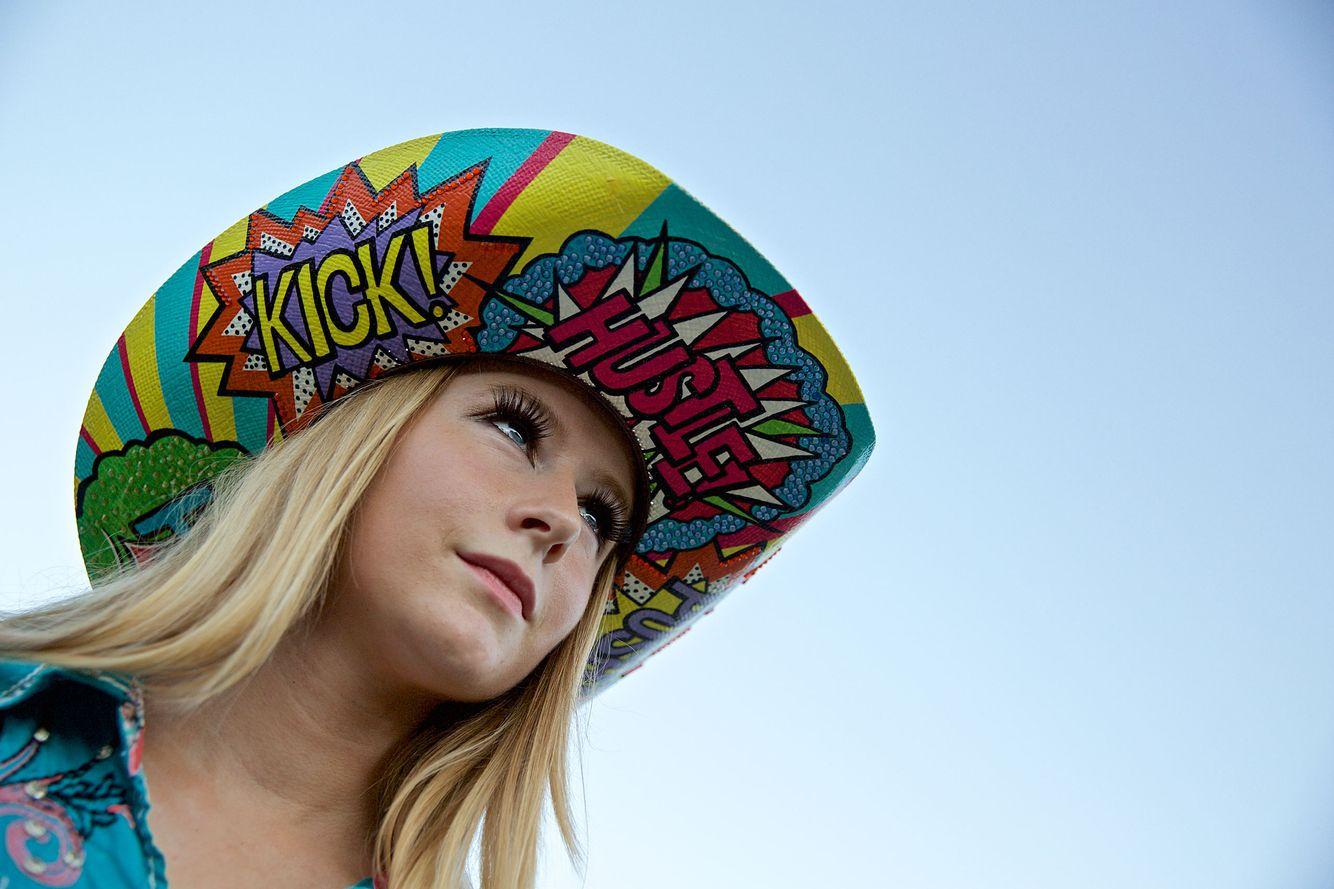 Girl In a Fancy Cowboy Hat