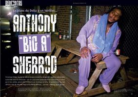"""Anthony """"Big A"""" Sherrod Double Page Spread Magazine Article"""