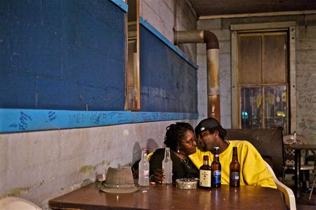 Cozy Couple at The Blue Front Cafe Juke Joint