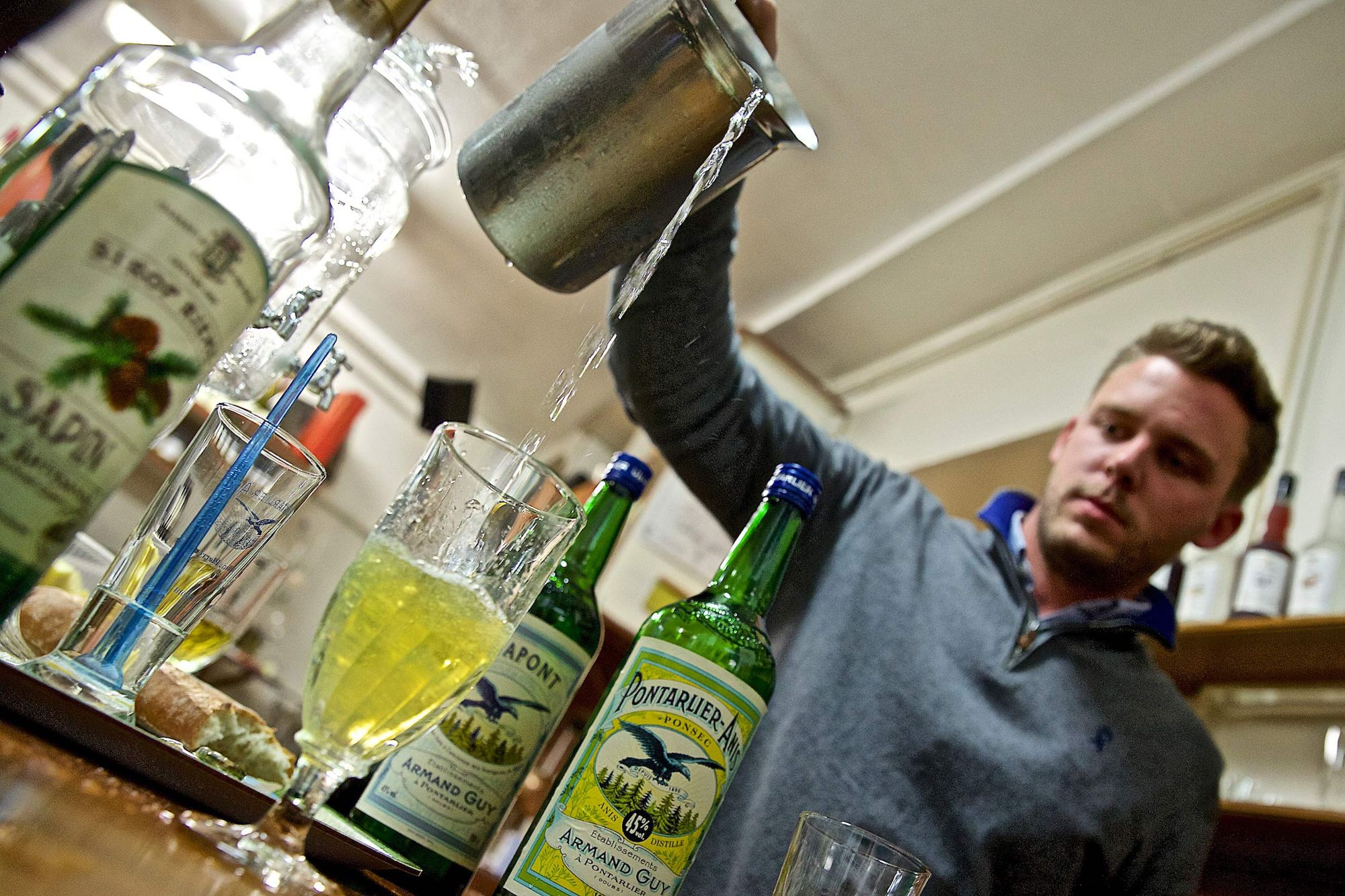 A High Water Pour Over Absinthe