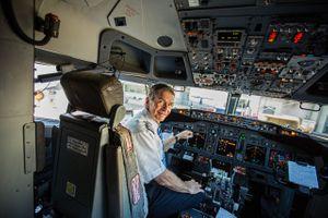 Pilot in a Cockpit