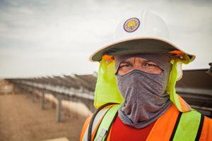Worker Shielded From Heat