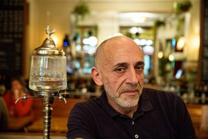 Portrait Inside the Absinthe Bar Le Fee Verte in Paris