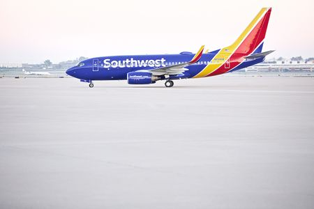 Beauty Shot of a Southwest Airplane