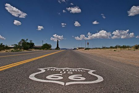 Route 66 Road Logo