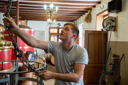 Pierre Guy At Work In His Distillery