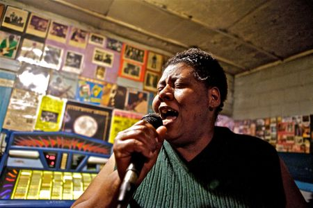 Woman Singing At Blue Front Cafe Juke Joint