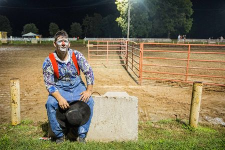 Environmental photo of a Rodeo Clown