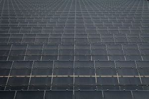 A Sea of Solar Panels From Above