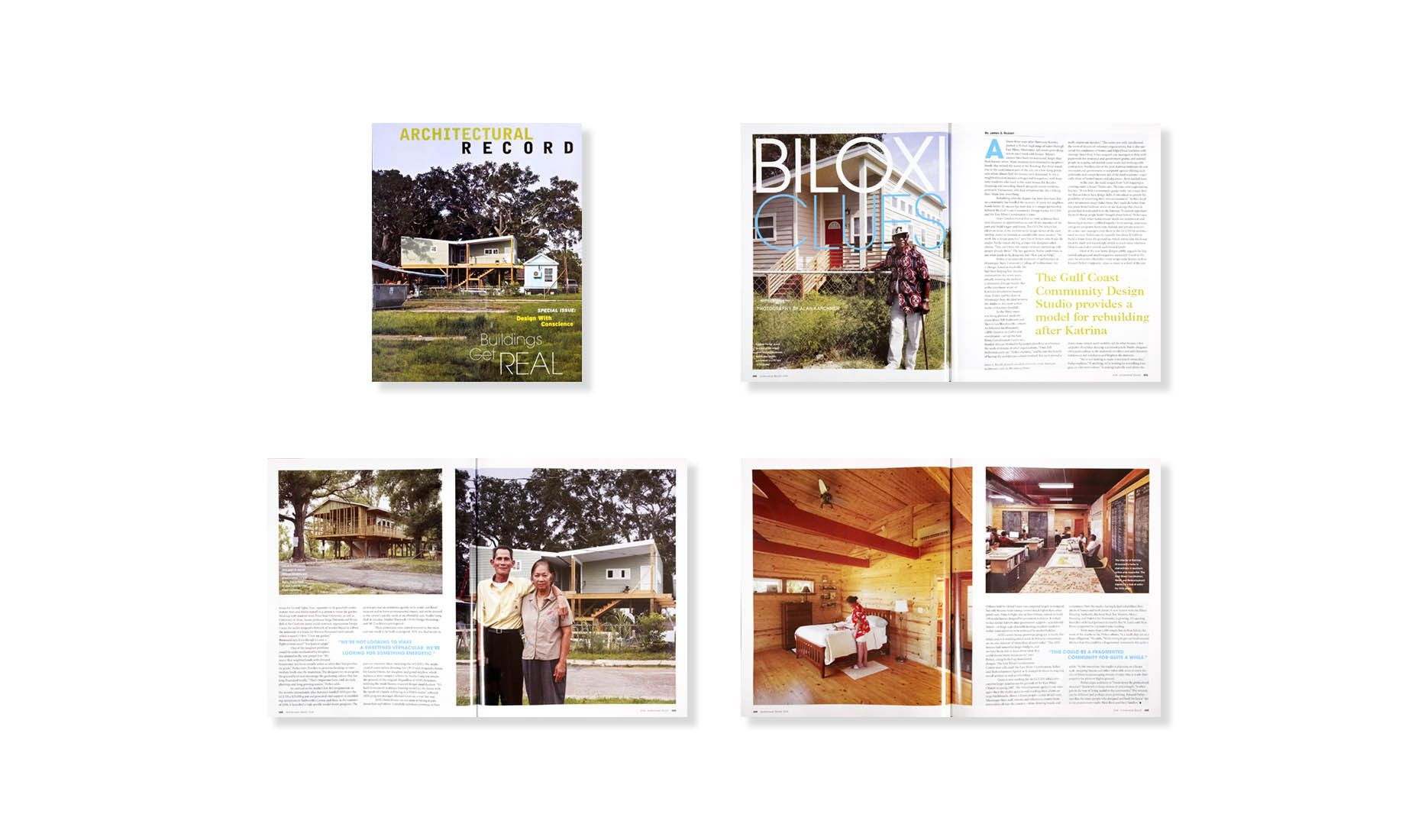 ARCHITECTURAL RECORD 10.08  .  GULF COAST COMMUNITY DESIGN STUDIO  .  KATRINA HOUSING