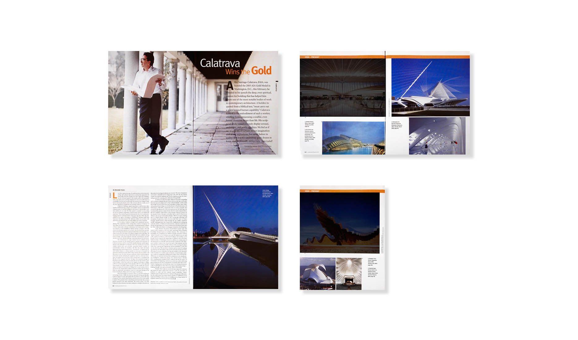 ARCHITECTURAL RECORD 05.05  .  SANTIAGO CALATRAVA  .  AIA GOLD MEDAL AWARD