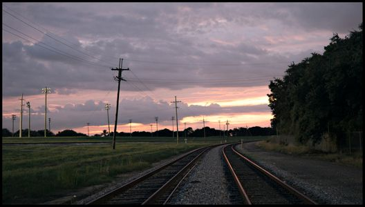 Train Tracks at Sunset - New Orleans 2019
