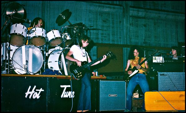 Hot Tuna - Jorma Kaukonen, Jack Casady, Bob Steeler, Nick Buck  - Santa Cruz Civic Center , July 1977