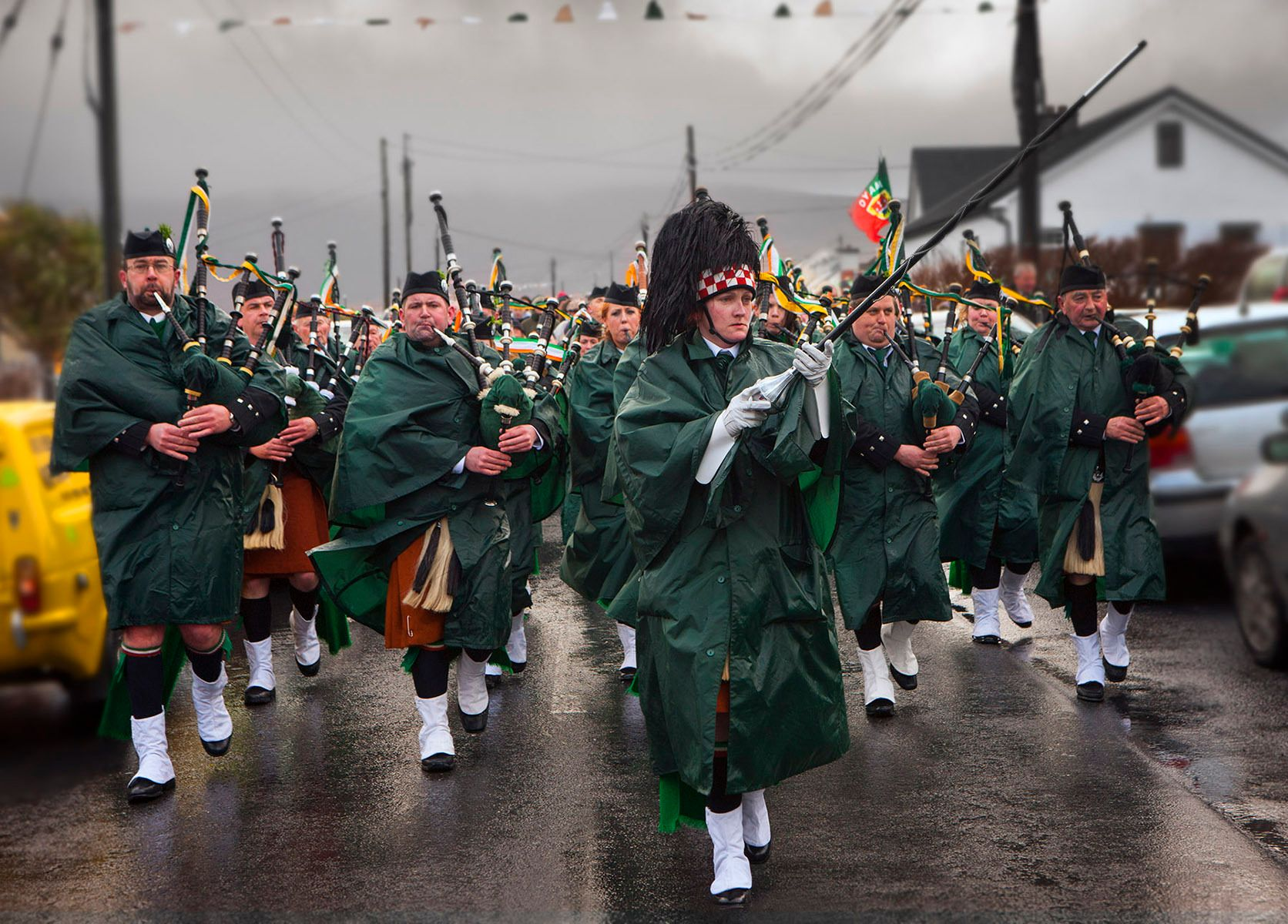 Saint Patricks Parade Achill Island Ireland, 2013