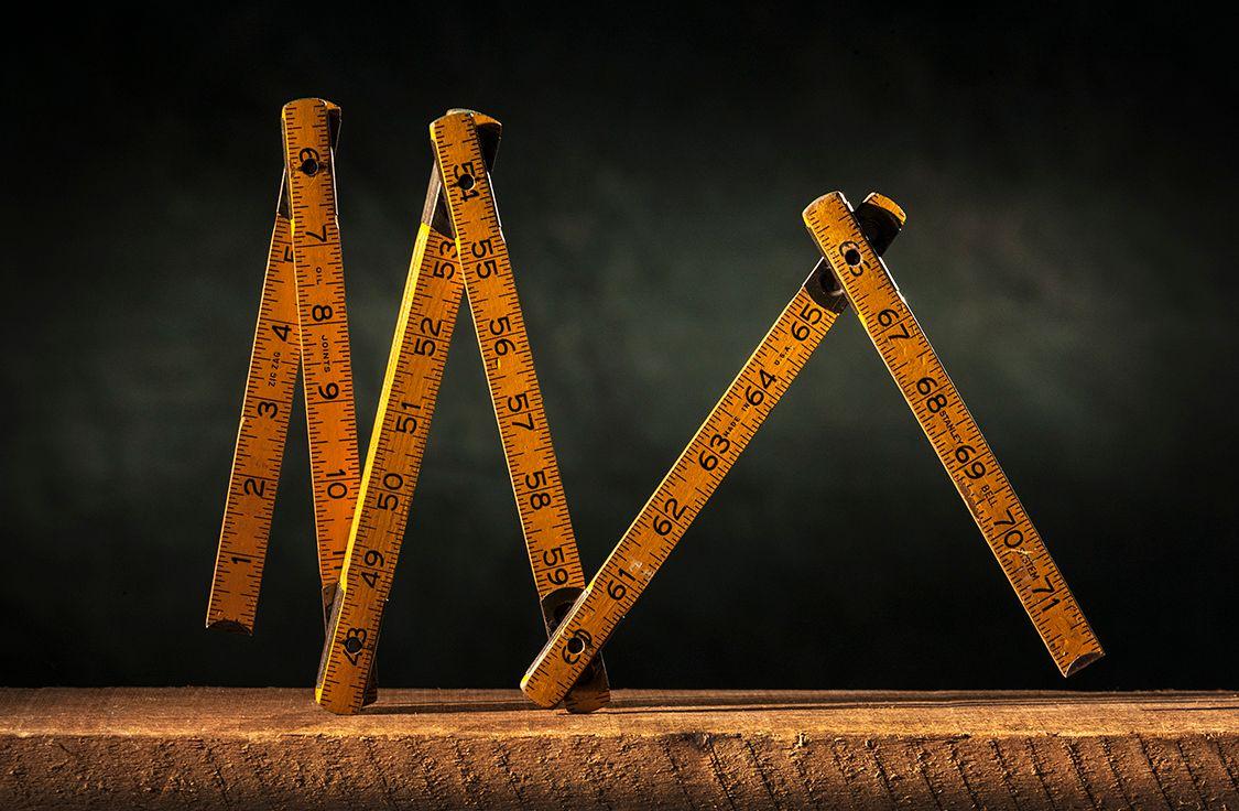 Stanley Bell System Folding Ruler
