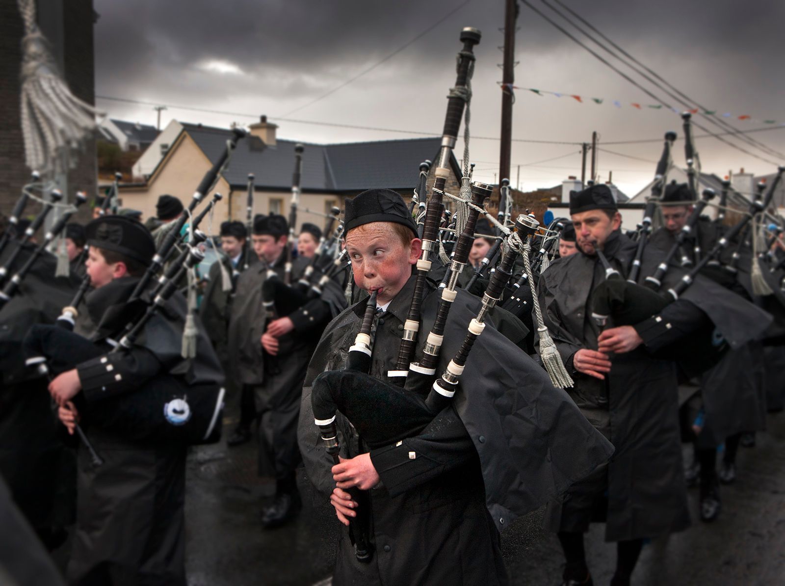 Big Cheeks, Saint Patricks Day Parade, Achill Island, Ireland
