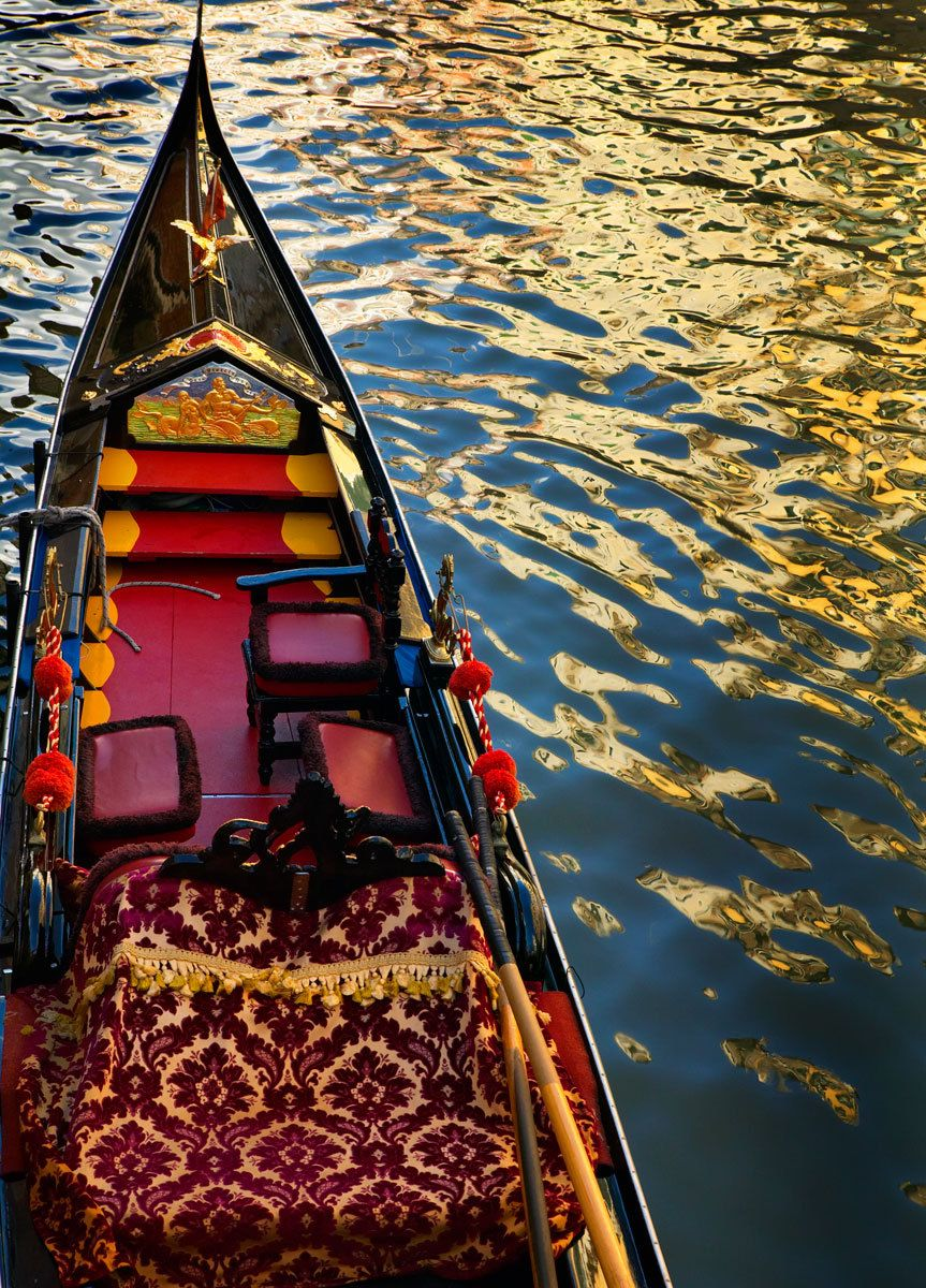 Blazing Gondola, Venice, Italy