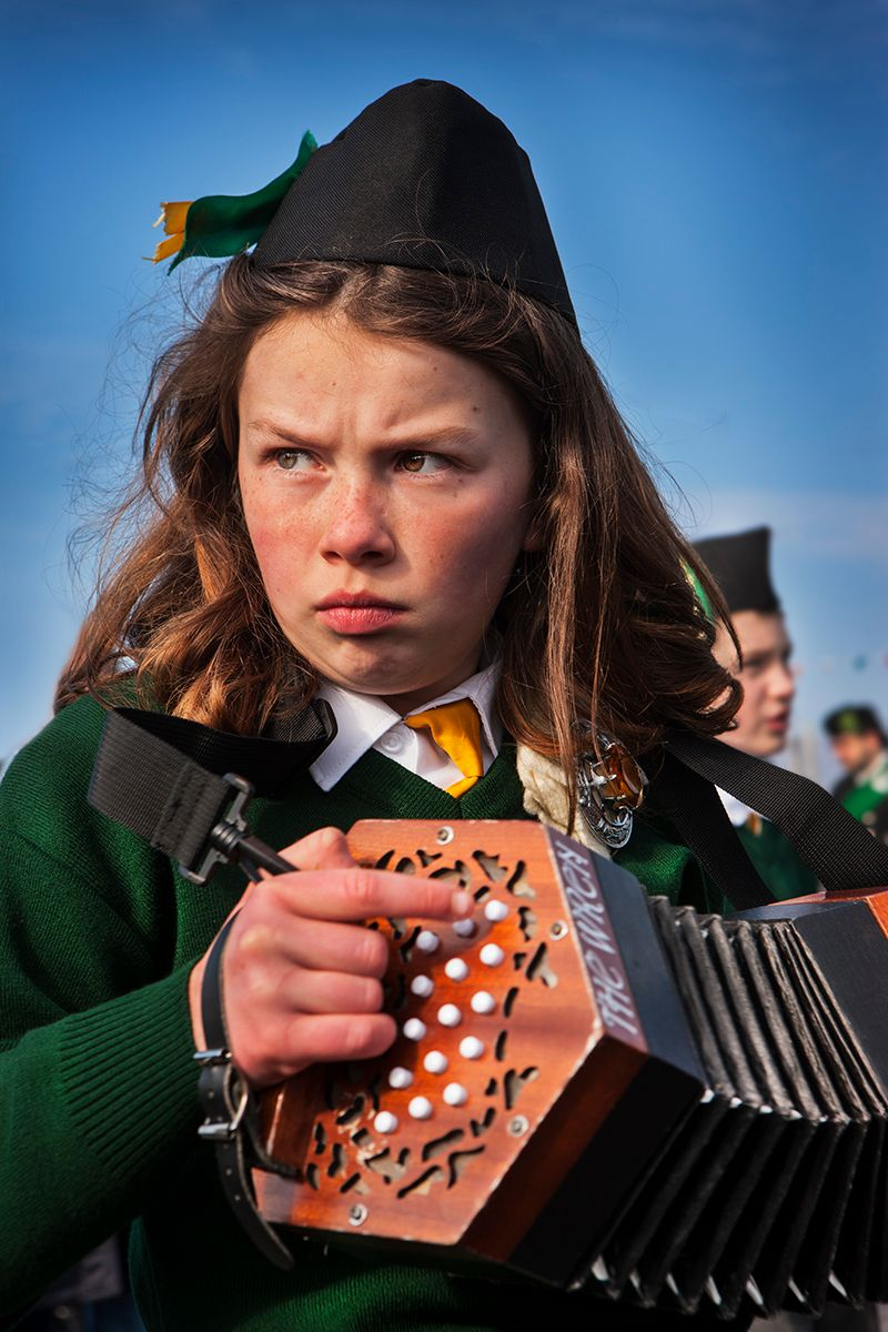 The Intensity of the Concertina Player: Saint Patricks Day,Achill Island,Ireland
