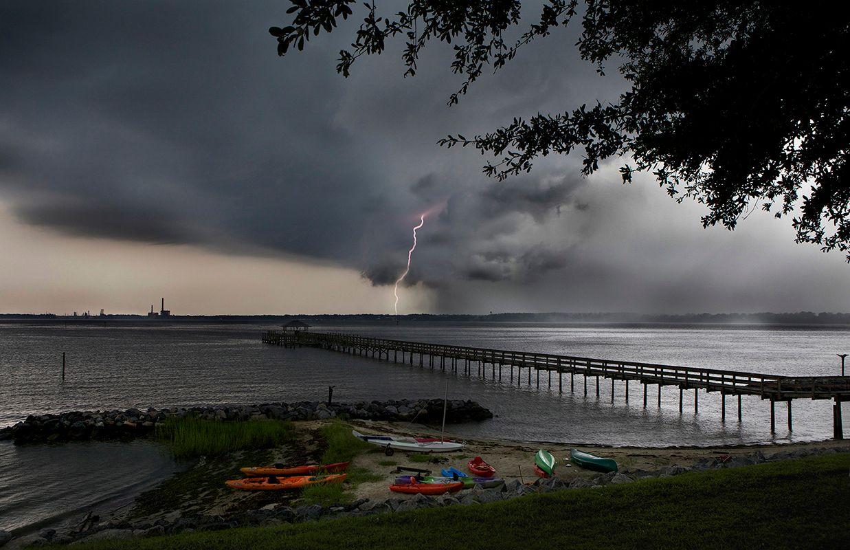 Summer Storm, York River, Virginia