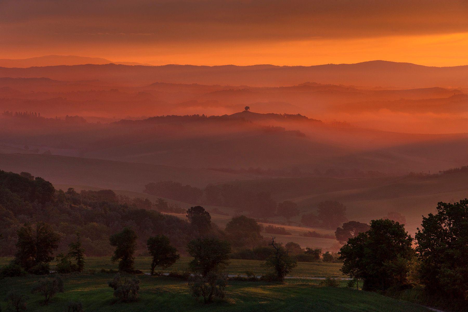 5:30 Am Sunrise, Murlo, Italy